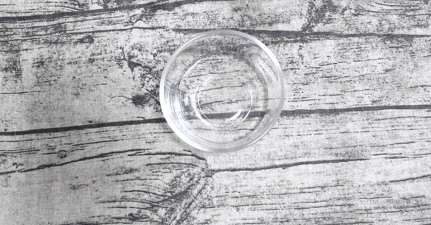 水を1/4カップ